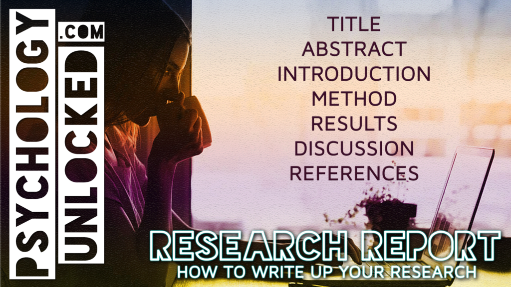 Structure of a research report