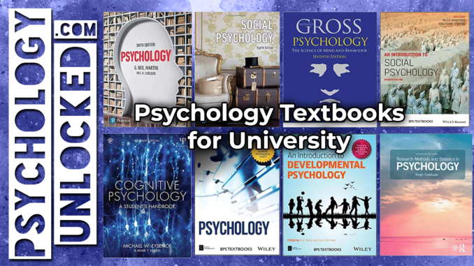 psychology textbooks for university